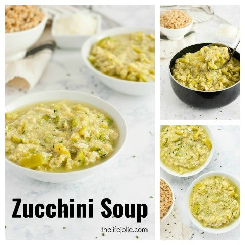 This Zucchini Soup Recipe is super easy to make. It's light and healthy: the perfect detox Italian meal. A few simple ingredients and you've got a delicious, satisfying lunch!