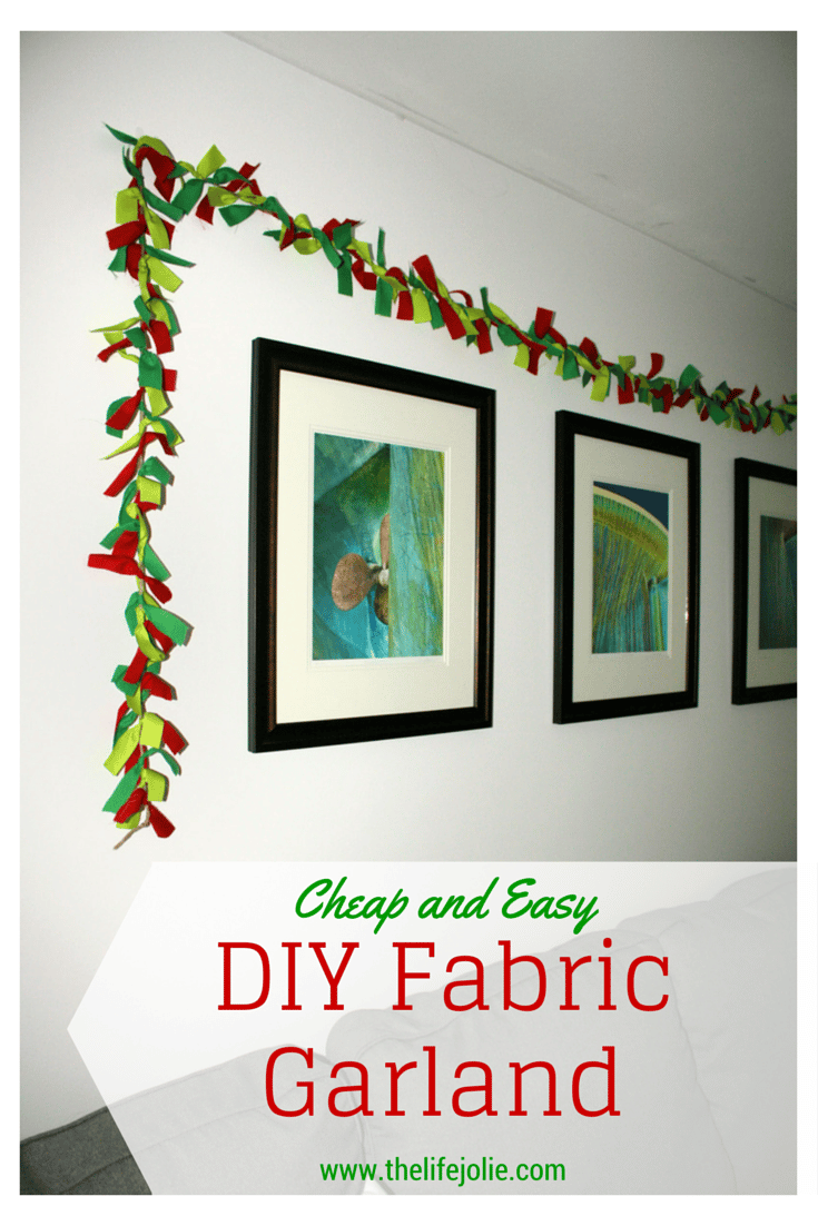 Cheap and Easy DIY Fabric Garland | The Life Jolie
