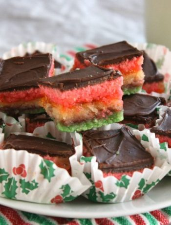 Some people call these Neapolitan Cookies or Tricolor Cookies or 3 color italian cookies. Whatever you call then they are so delicious and are a gorgeous addition to any cookie platter!