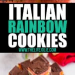 Whether you call these authentic Italian cookies Neapolitan Cookies, Tricolor Cookies or Rainbow Cookies, they are so delicious and are a gorgeous addition to any cookie platter! These are perfect for Christmas or any other holidays and special occasions. The almond paste and chocolate add such fantastic flavors along with the fruitiness of the raspberry and apricot preserves.
