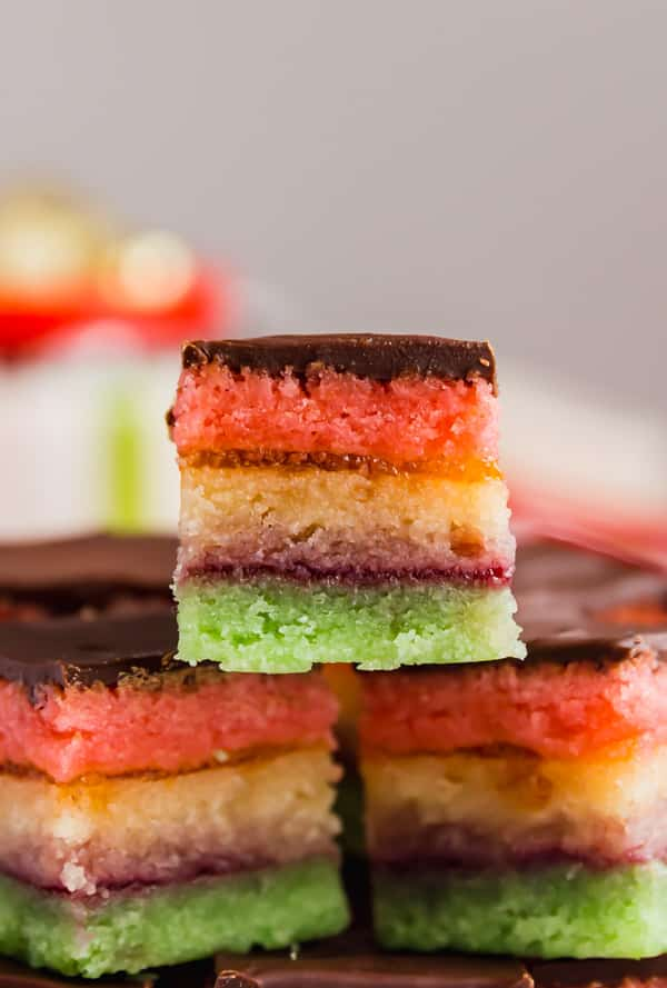 Italian Rainbow Cookies And Authentic And Delicious Italian Cookie