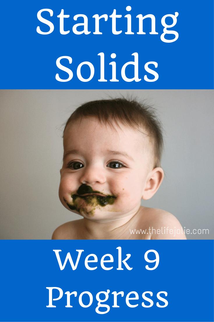 Starting Solids- Week 9 Progress | The Life Jolie