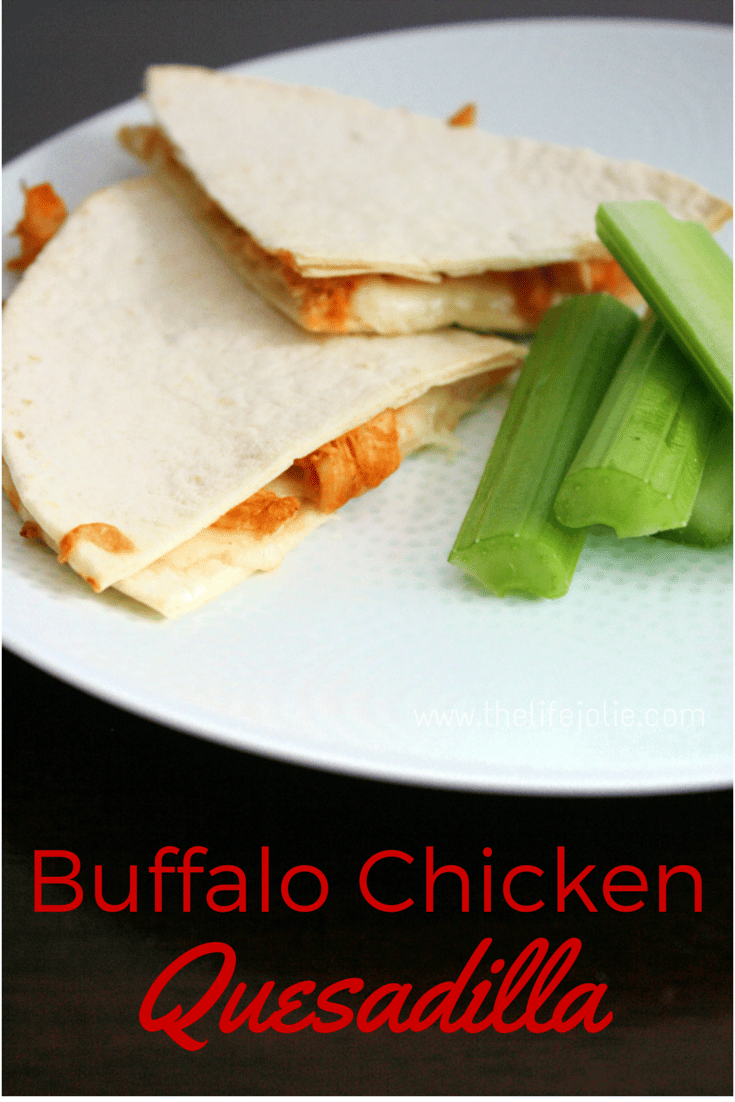Who doesn't love Buffalo Chicken? There are some many tasty ways to use it but one of my favorites is to make Buffalo Chicken Quesadillas. This recipe is really easy which makes it a delicious weeknight meal option and the perfect game day snack as well!