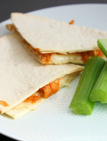 Buffalo Chicken Quesadilla | The Life Jolie