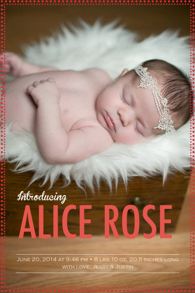 A's Birth Announcement   The Life Jolie