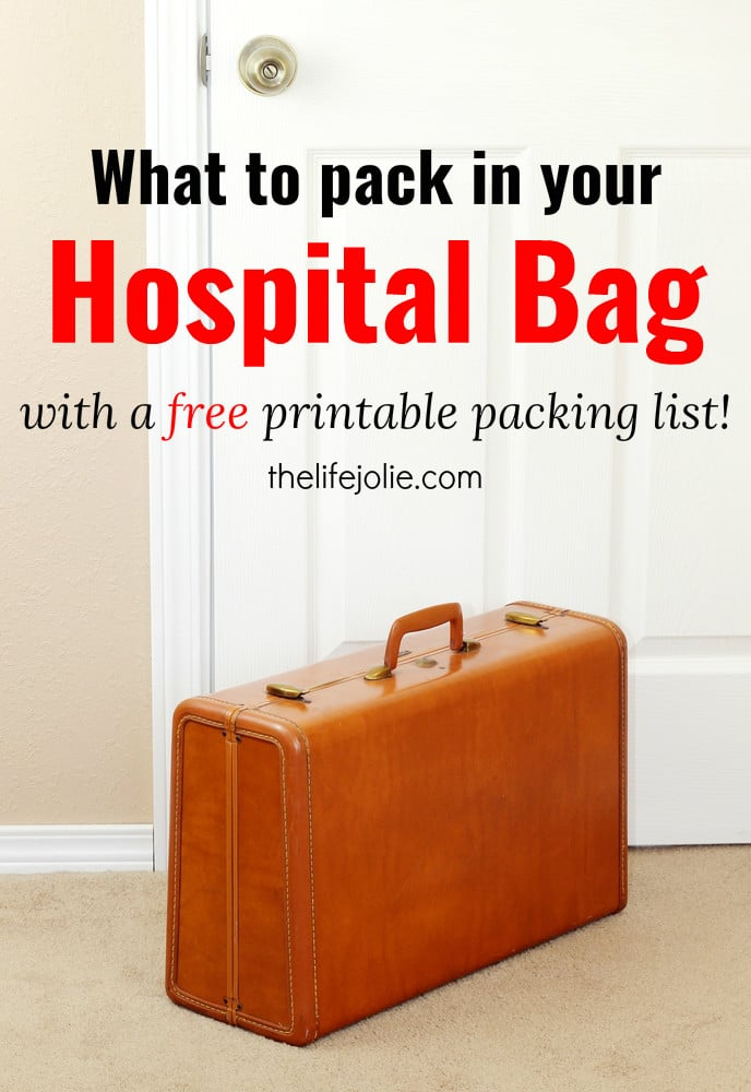 Hospital Bag Packing List For Mom