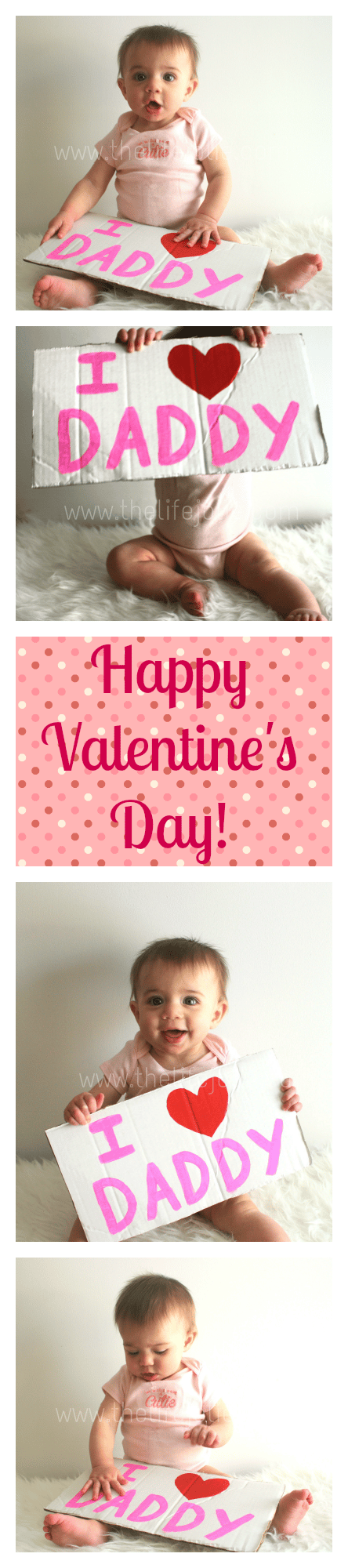 Such a cute surprise for a new Daddy on Valentine's day! www.thelifejolie.com