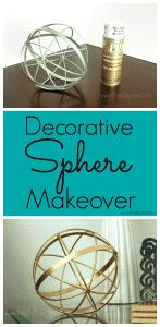 Decorative metal sphere makeover