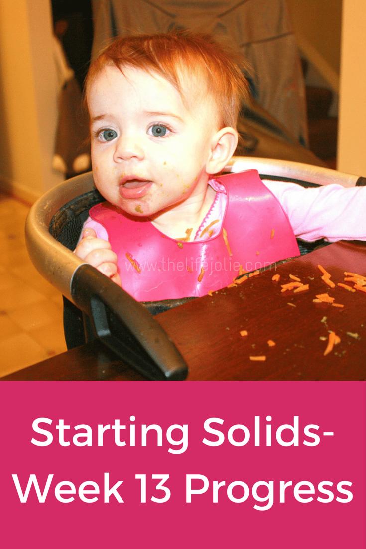 Starting Solids- Week 13 Progress | The Life Jolie