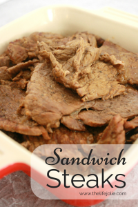 These Sandwich Steaks are so delicious- I love how you can take a few simple ingredients and combine them to make the most awesome flavors!