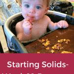 Starting Solids- Week 19 Progress