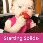 Starting Solids- Week 16 Progress