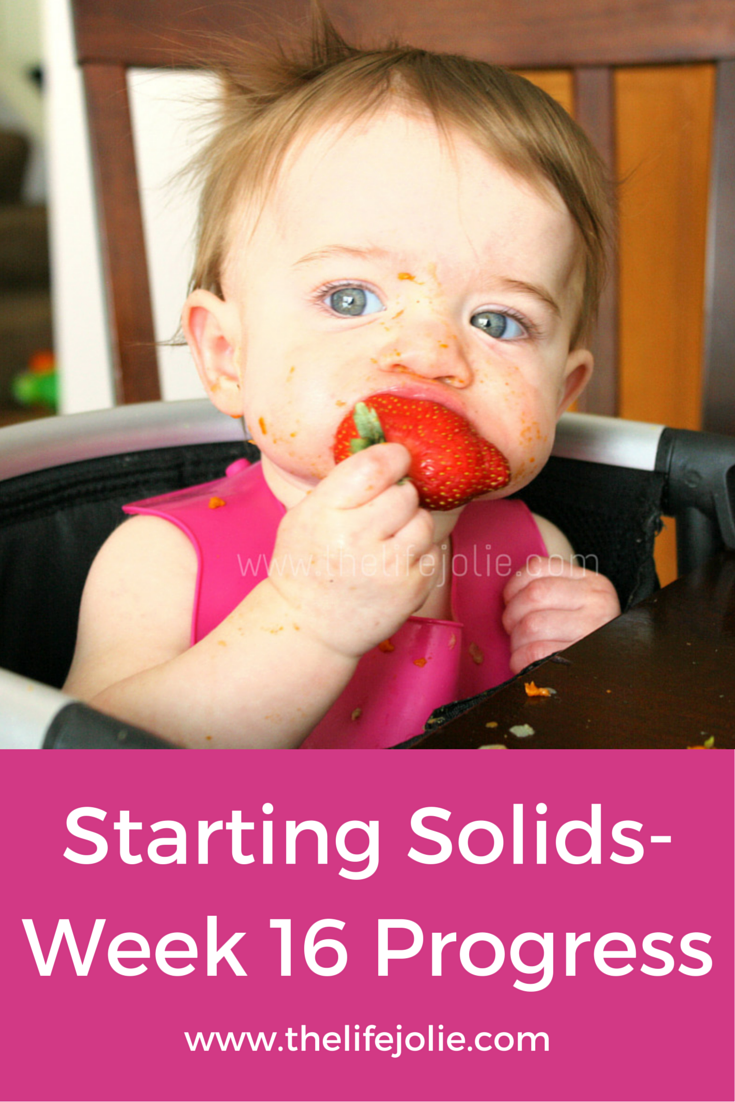 Starting Solids Week 16 Progress | The Life Jolie