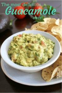 I love guacamole and this guacamole is seriously the best EVER!Everyone that tastes it goes crazy over it and it's so easy to put together.
