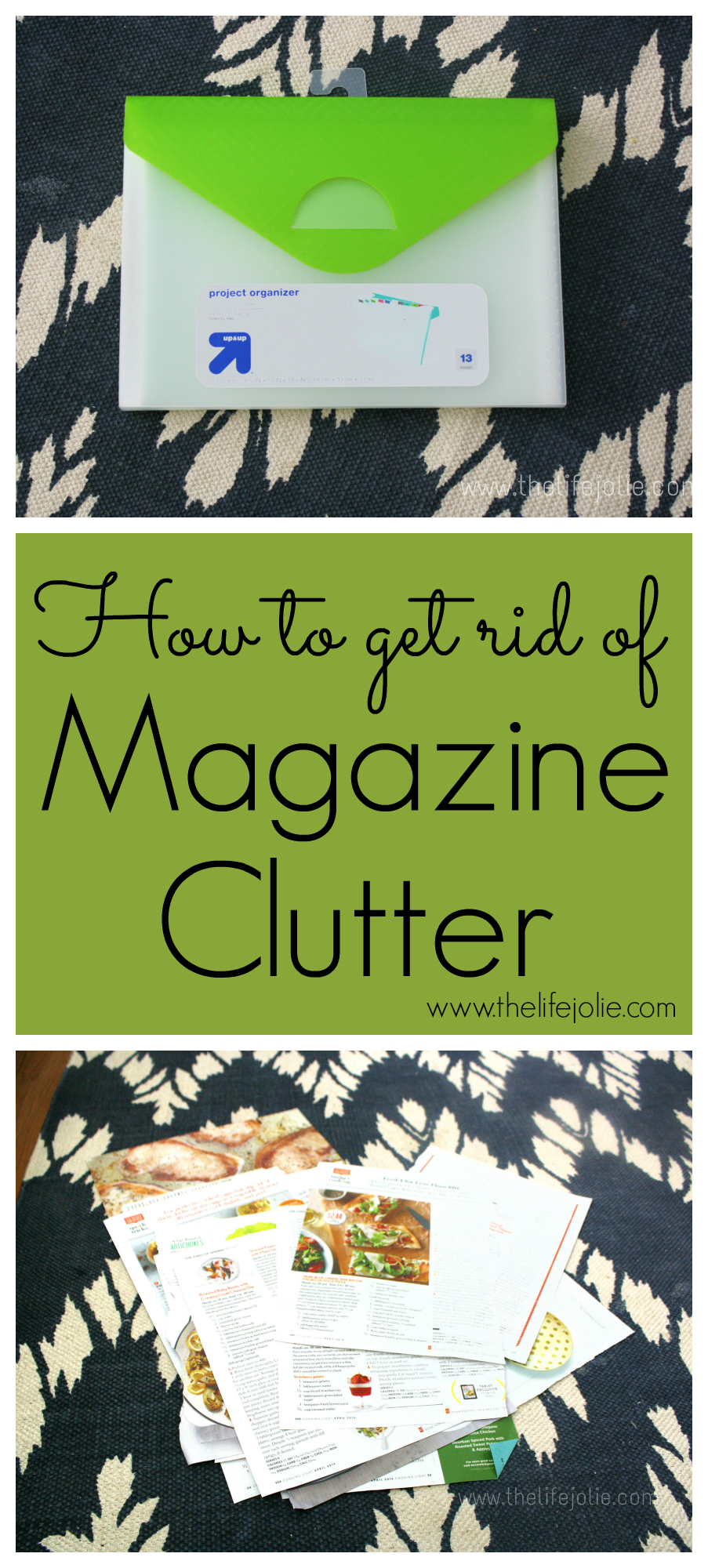 Here is a great idea about how to get rid of magazine clutter without sacrificing the articles you want to save. Click on the photo to read more...