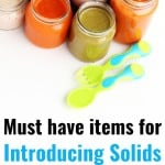 Must-have items for introducing solids