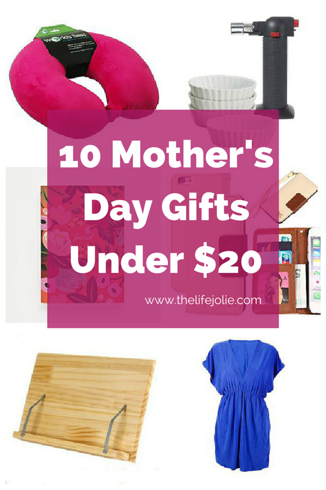Here's a great list of 10 Mother's Day gifts for Under $20. I'd love to get any of these!