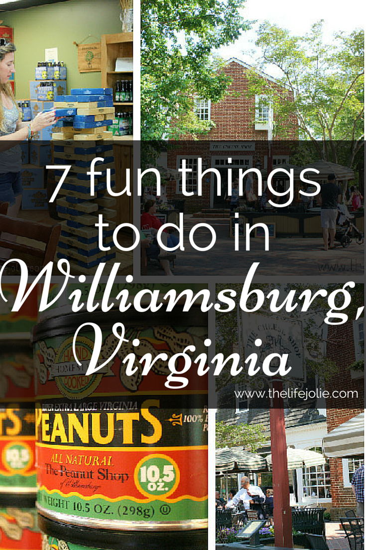 Here is a list of 7 fun things to do in WIlliamsburg, Virginia- it is such an awesome city and while it's well known for it's historical attractions, there are many other fun things to do. Click on the photo to read more...