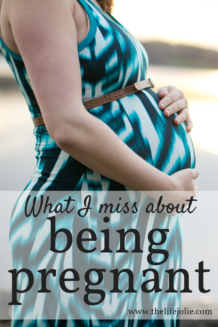 While being pregnant is certainly not easy there are a few things I miss about it. Click on the photo to read more...