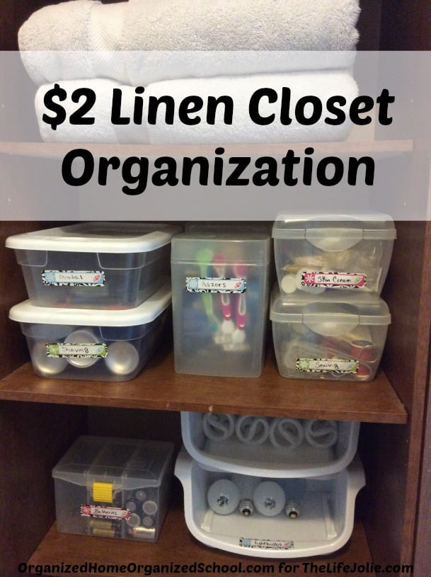 Here are some really great tips from quick, inexpensive linen closet organization. She seriously makes it so easy! Click on the photo to read more...