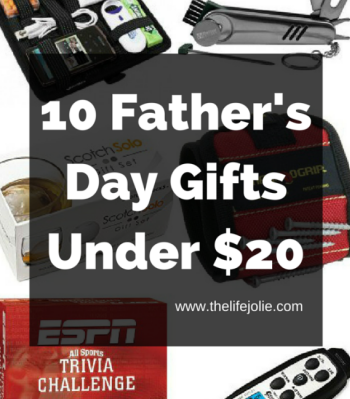 This list of 10 Father's Day Gifts under $20 gives you a bunch of great options for low cost Father's Day gifts that Dad will actually want.
