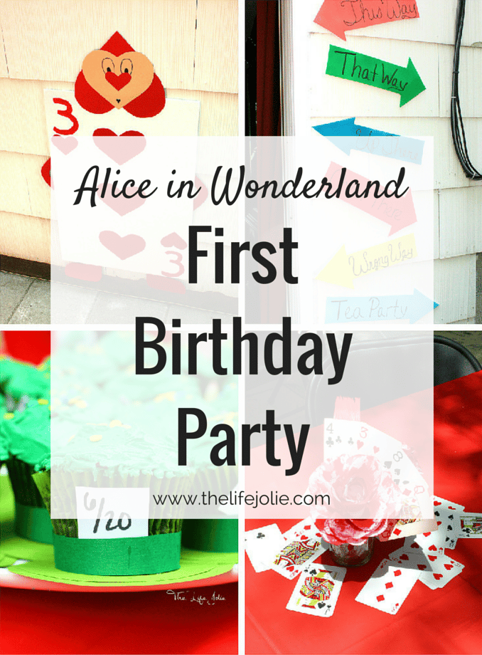 Alice and Wonderland Themed First Birthday Party   The Life Jolie