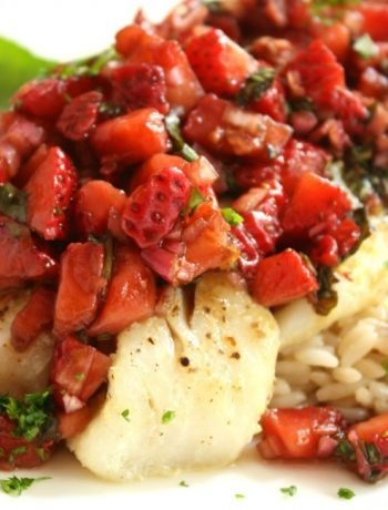 Fish with Balsamic Strawberry Salsa | The Life Jolie