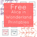 Alice in Wonderland signs and free printables