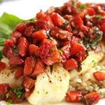 New Post at OHOS: Fish with Balsamic Strawberry Salsa