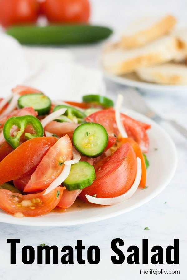 This Tomato Salad is one of my favorite Italian recipes! It's super simple and easy to make. The minimal ingredients to highlight the star of the show: the tomatoes which are basically marinated and specifically their juice. I love this with fresh Italian bread for dipping. Click on the photo to get the recipe!