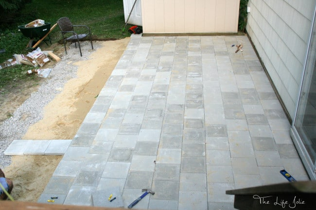 Diy paver patio this diy paver patio was actually a much more manageable project than we expected here solutioingenieria Image collections