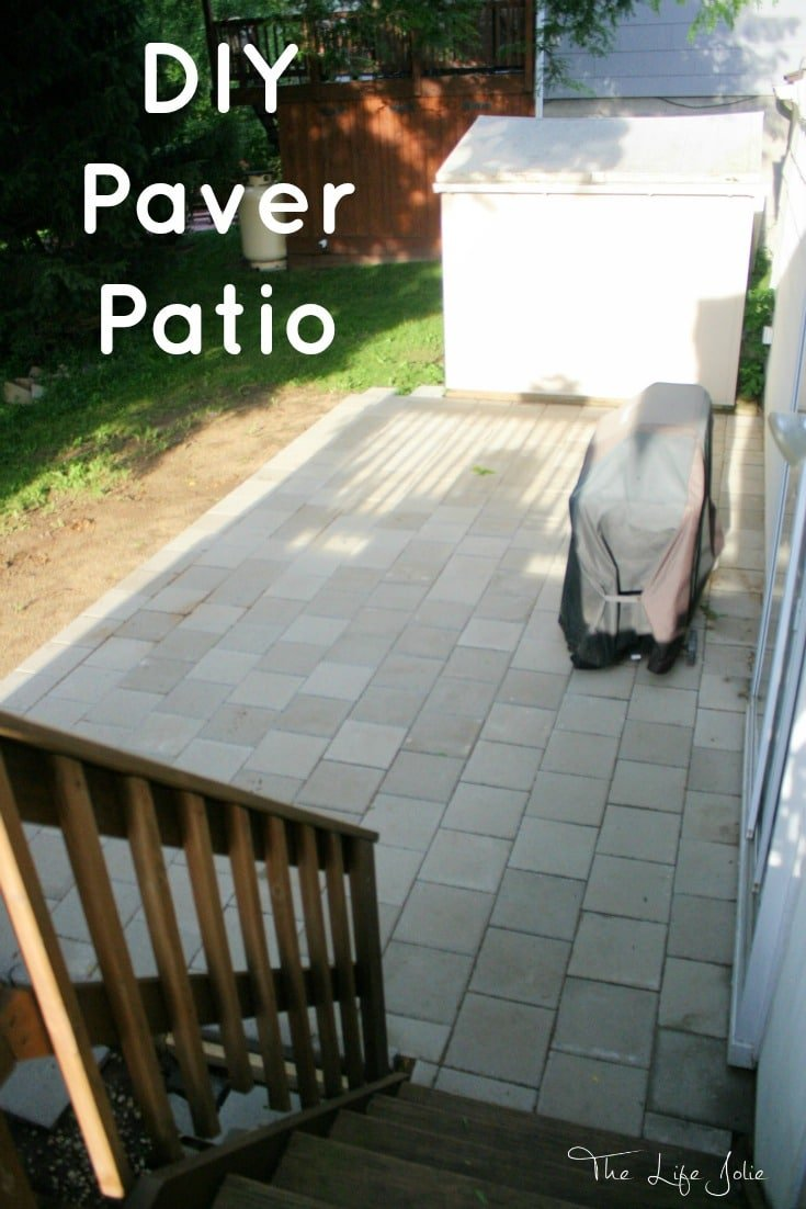 This DIY Paver Patio Was Actually A Much More Manageable Project Than We  Expected. Here