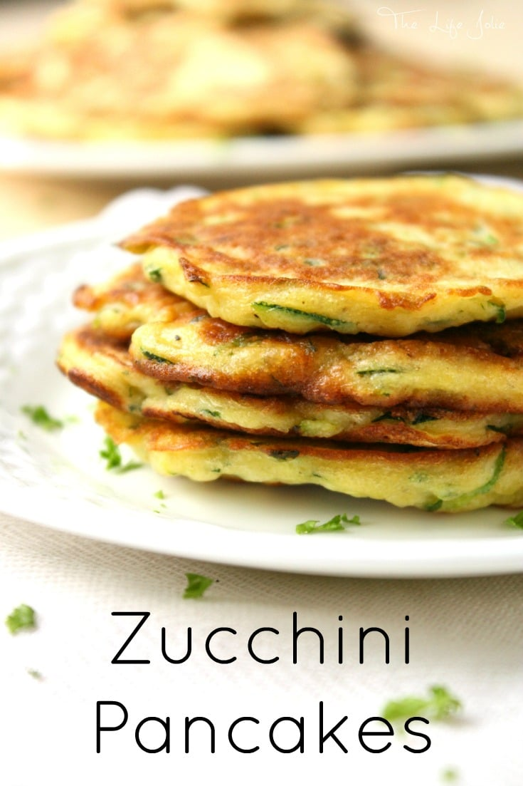 Zucchini pancakes are a simple to make and so addictive! These make a ...