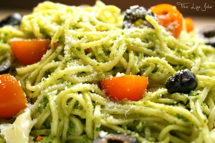 Garlic Scape Pesto is a tasty twist on a regular pesto. If you like garlic, you have got to try this! It's great over pasta as well as on meat. Click on the photo to read more...