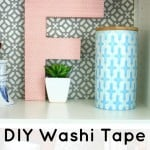 DIY Washi Tape Covered Letter