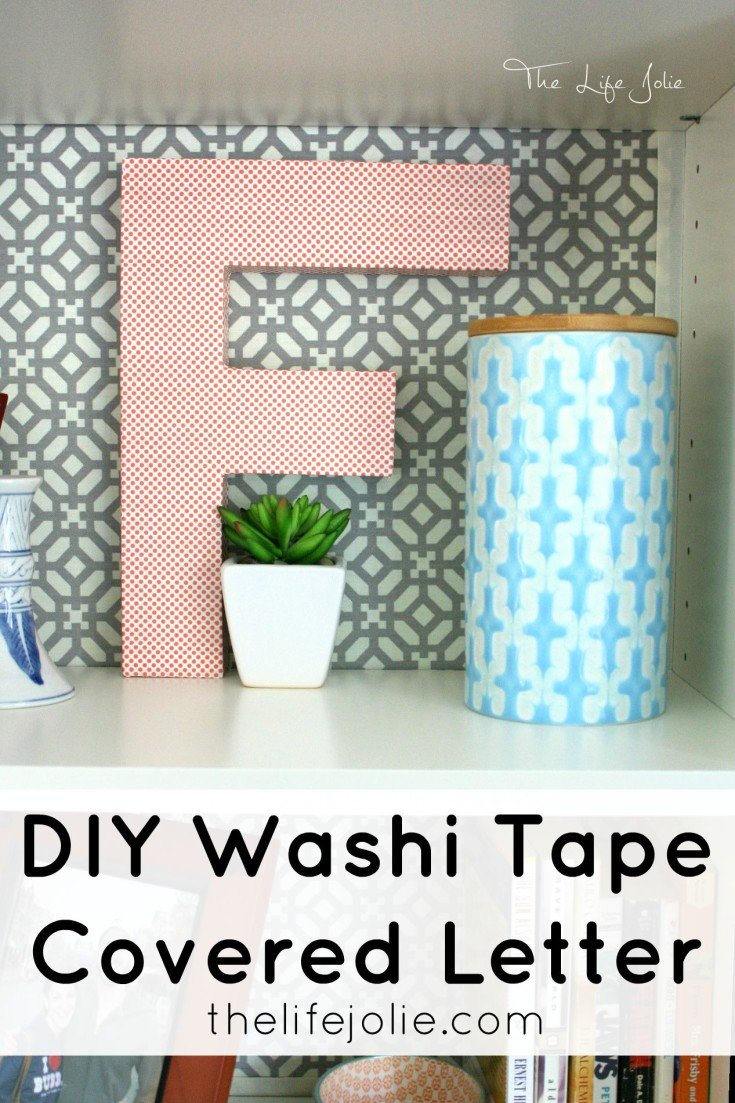 This DIY Washi Tape Covered Letter is really cheap and easy to make. It's a quick, 10 minute project that looks beautiful when It's done. Click on the photo to read more...