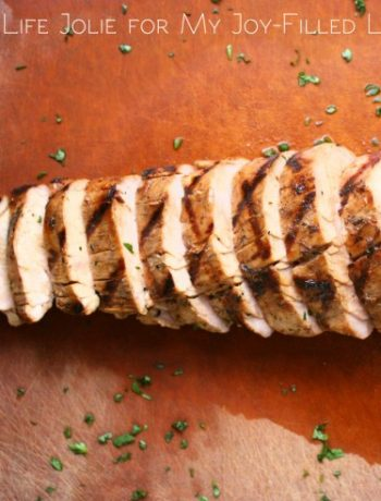 Apple Juice Marinated Pork Tenderloin | The Life Jolie