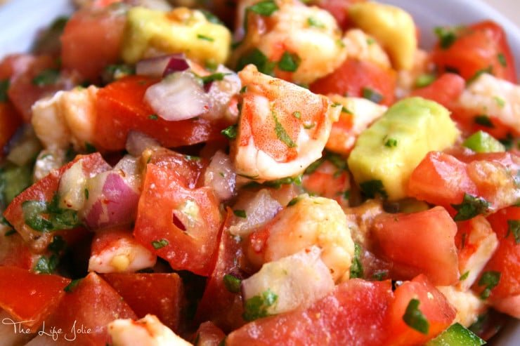 This Shrimp Salsa is a copycat versions of Bubba Gump Shrimp Company's Shakin' Shrimp Cocktail. It is light, refreshing and super flavorful! Click on the photo to read more...