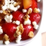 Plums with Goat Cheese and Walnuts