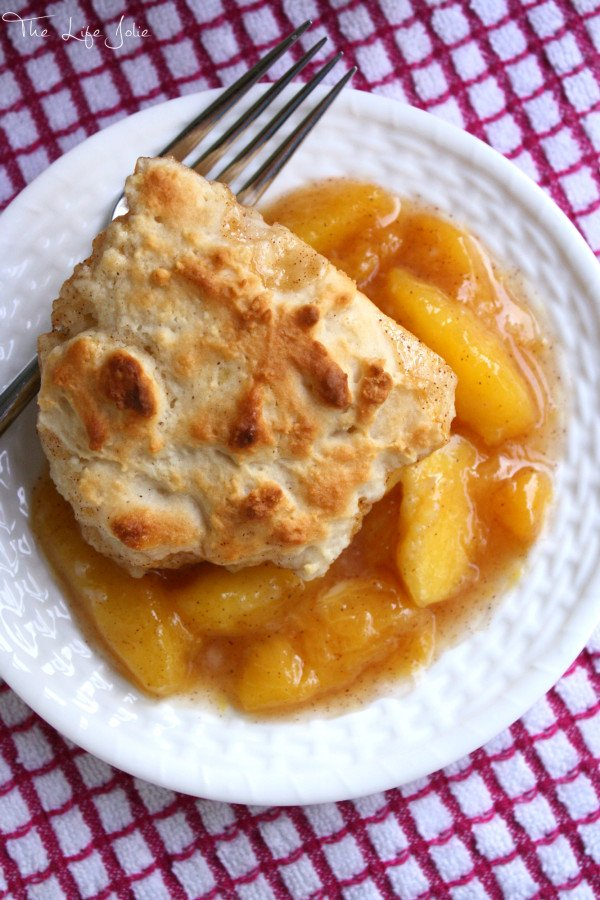 This peach cobbler is everything that summer is about- It's quick and easy to make, the peaches are bursting with flavor and the dough is light as a feather! Click on the photo to read more...