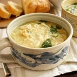 Chicken and Parmesan Soup with Spinach and Orzo