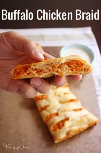 Oh my gosh this Buffalo Chicken Braid is my new game day go-to- it is so quick and easy to make and I can't get over how delicious it is! I'll definitely be making this recipe over and over!
