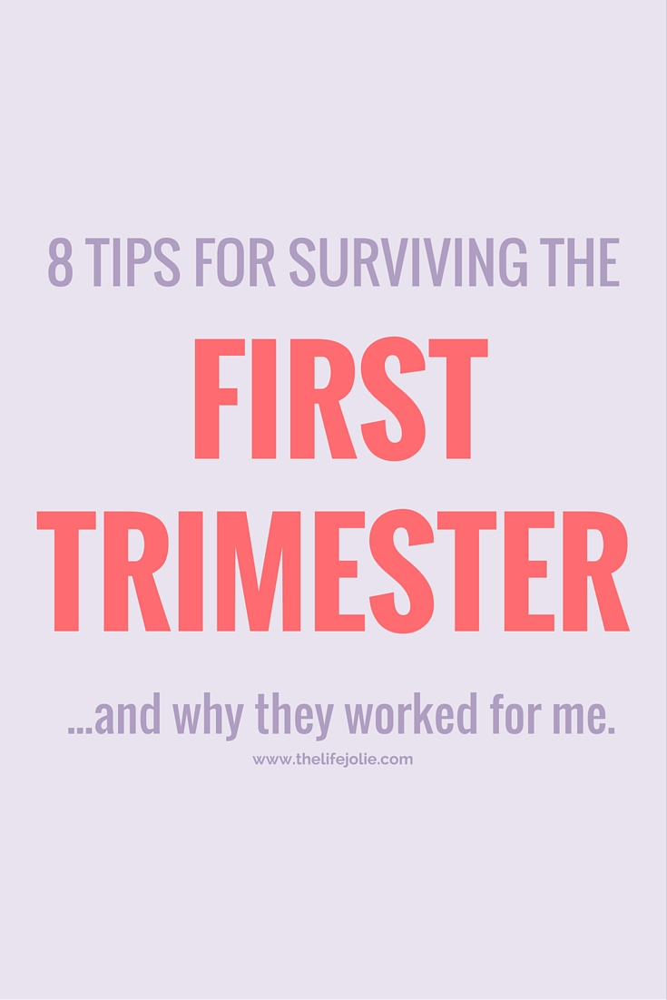 These 8 tips for surviving the first trimester seriously saved me- it's such a hard time but these simple tips definitemy made it a lot easier to get through! Click on the photo to read more...