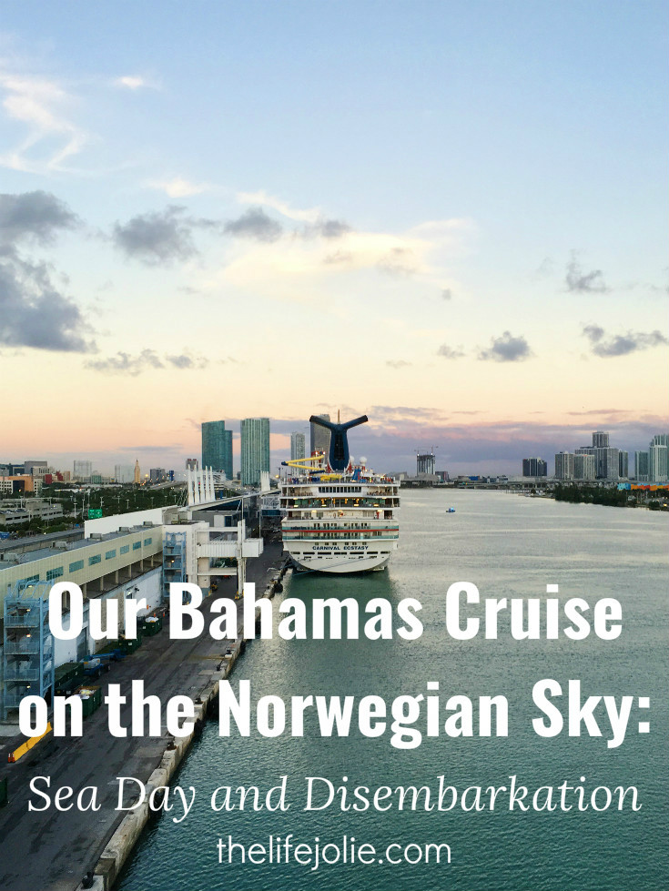 Here's some info and tips about our Bahamas cruise on the Norwegian Sky, our sea day and disembarkation. We had an amazing time!