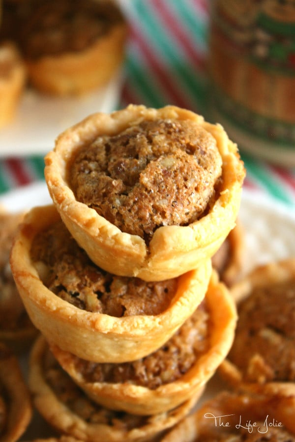 These Pecan Tarts are a family favorite! They require a few simple ingredients and look so pretty on a holiday cookie tray!