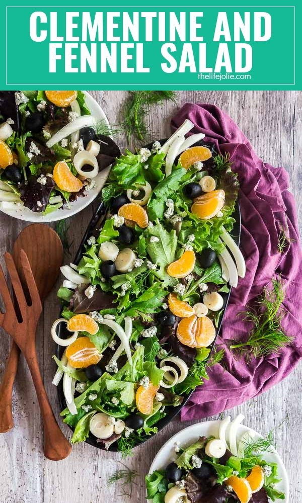 Clementine and Fennel Salad is a healthy and delicious recipe. It's quick and easy to put together but feels special enough to bring to a dinner party or to serve on on the holidays.