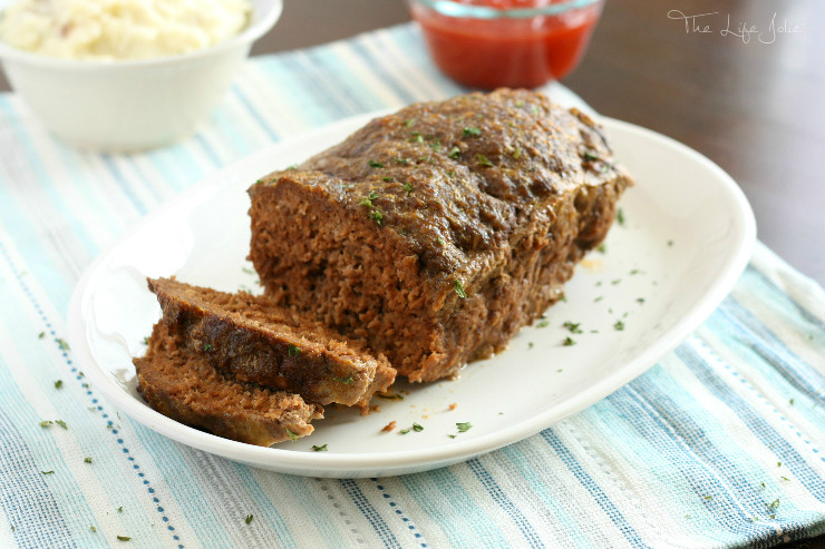 This is my mom's meatloaf recipe- it is seriously the best meatloaf I've ever had- it's super simple and really easy to make. It's the ultimate of comfort foods and one of my favorite dinners!