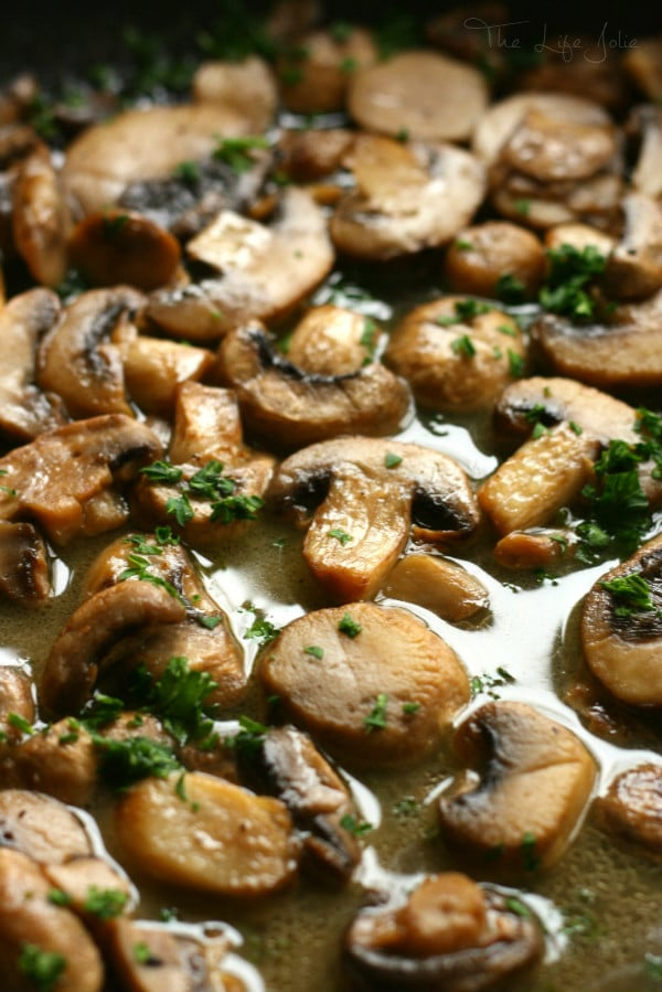 These Sauteed Mushrooms in a Wine Reduction are super quick and easy to make. They use minimal ingredients but the end result is the most savory, delicious flavor!
