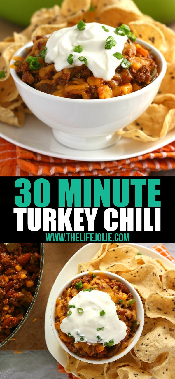 This 30 Minute Turkey Chili is one of the ultimate comfort foods- not only is it healthy and easy to make, it has the best flavor. Ready in 30 minutes, this is definitely a keeper!