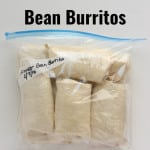 Freezer Bean Burritos